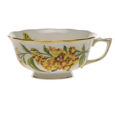 Herend - 'American Wildflowers' Fine China Collection - Teacup, Butterfly Weed