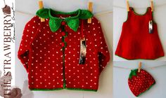 The Strawberry LEI la maawcraft. Polka Dot Top, Kids Outfits, Strawberry, Kids Clothing, Clothes, Tops, Women, Fashion, Tricot