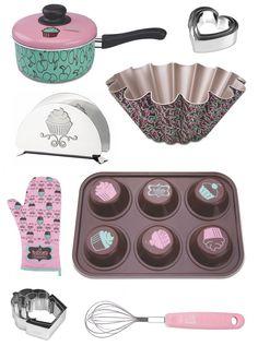Dona de casa: kit de cozinha com cupcakes da Tramontina