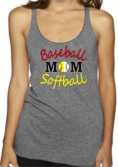 Baseball Mom Shirts Baseball Mom Softball Tank Baseball