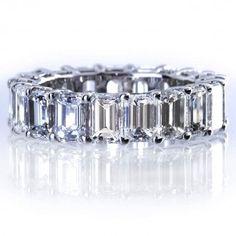 emerald cut diamond eternity band