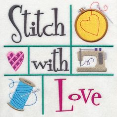 Stitch with Love design (K7466) from www.Emblibrary.com