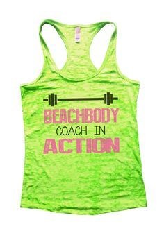 """""""Beachbody Coach In Action""""̴Ì_Great quality burnout tank top, our burnouts are the HIGHEST quality workout tanks on the market.̴Ì_ Super lightweight around 3.3 ounces and very soft. They are all athle"""