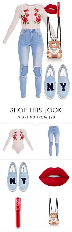 """Untitled #508"" by dreamer3108 on Polyvore featuring Joshua's, Lime Crime and Moschino"