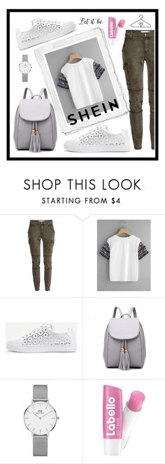 """""""shein CONTEST"""" by hodzicalena ❤ liked on Polyvore featuring WithChic and Daniel Wellington"""