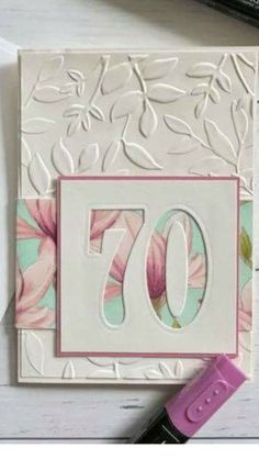 Change up colors and embossing folder for dad Change up colors and embossing folder for dad 70th Birthday Card, Handmade Birthday Cards, Happy Birthday Cards, Birthday Cards For Women, Making Greeting Cards, Greeting Cards Handmade, Bday Cards, Embossed Cards, Cricut Cards
