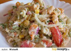 Salát plný zeleniny recept - TopRecepty.cz Pasta Salad, Ethnic Recipes, Food, Red Peppers, Crab Pasta Salad, Essen, Meals, Yemek, Eten