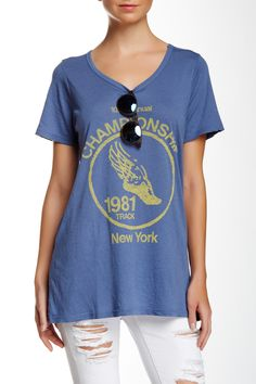 Championships 1981 NY Graphic Tee by Junk Food on @HauteLook