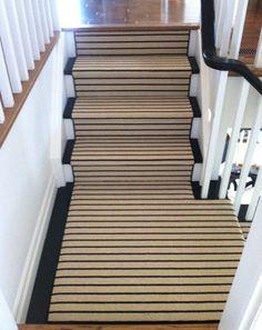 Stair Runner - Bijou and Boheme Staircase Carpet Runner, Stairway Carpet, Carpet Stairs, Hallway Carpet, Striped Carpets, Patterned Carpet, Striped Rug, Flooring Near Me, Where To Buy Carpet
