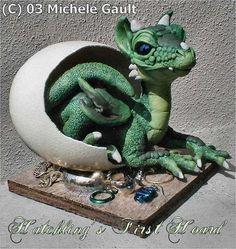 Polymer Clay dragons | Image: HatchlingsHoard.jpg 649x685 84253 bytes 2003.05.28
