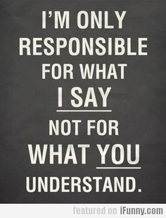 I'm Only Responsible For What I Say, Not For...