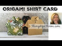 Easy Origami Mens Shirt Card - How to Video - YouTube