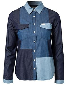 BLUSAR & SKJORTOR - LEE JEANS / PATCHWORK SHIRT - NELLY.COM