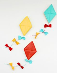 Kite Cookies.  Would be good for a Mary Poppins party.