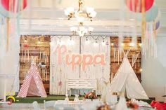 Pippa's Coachella Themed Party – Stage