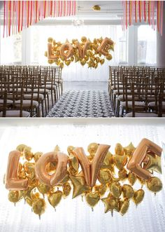 Balloon Wedding Inspiration- if it's inside, this could be a fun, simple decor option!