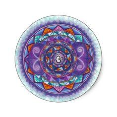 Drittes Auge chakra Mandala Runder Aufkleber
