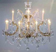 Maria Theresa Chandelier Crystal Lighting Chandeliers H W Trimmed With Spectra (Tm) Crystal - Reliable Crystal Quality By Swarovski - Chandelier Shades, Chandelier Lighting, Crystal Chandeliers, Vintage Chandelier, Empire Chandelier, Crystal Sconce, Chandelier Crystals, Metal Chandelier, Bedroom Lighting