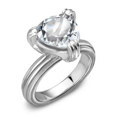 New Sterling Silver Engagement Rings -- Under $800 (Really!): 3. FROM SLANE . . .