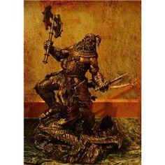 Diablo Barbarian copper color resin action figure