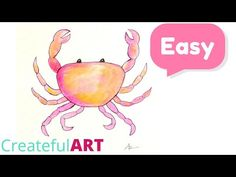 How To Draw a Crab and Paint it! --Art Lesson - YouTube