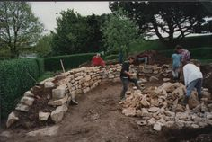 Building Cornish hedgerows by http://landscapingservicescornwall.com