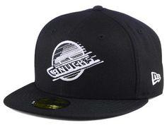 Vancouver Canucks New Era NHL Black Dub 59FIFTY Cap