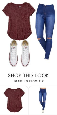 """Causal outfit #2"" by danielledc3 on Polyvore featuring Hollister Co., WearAll and Converse"