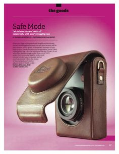 The Leica D-Lux 5 with leather case in Hemispheres Magazine - December 2011