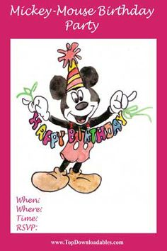 33 Best Diy Mickey Mouse Invitations Amp Party Ideas Images