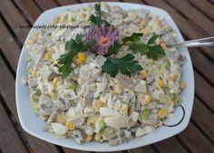 Swojskie jedzonko: Sałatka pieczarkowo-porowa