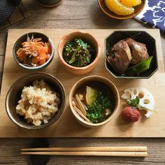 ある日の朝ごはん Japanese Food Sushi, Japanese Dishes, Japanese Table, Asian Recipes, Gourmet Recipes, Healthy Recipes, Gourmet Foods, I Want Food, Good Food