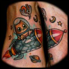 next year is near  #owl #orly #rocket #tattoo #ironcobratattoo #berlin