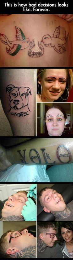 "The Definition Of Regret (or, if it was tatted by some of these idiots, ""ragret"")"
