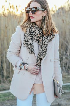 Winter Neutrals // White Jeans in Winter