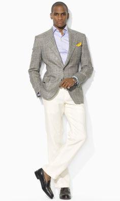 Garrison Windowpane Blazer - Polo Ralph Lauren Sport Coats -  RalphLauren.com Linen Sport Coat d4a4dd93589