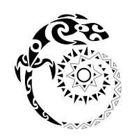 Spiral Lizard Tattoo Sample