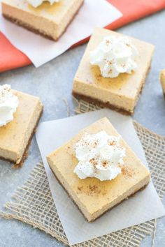 14 Pumpkin Bar Recipes That Will Satisfy Your Sweet Tooth via Brit + Co