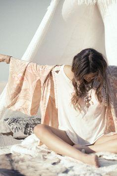 Tahitian Moon Kimono - Blush | Spell & the Gypsy Collective