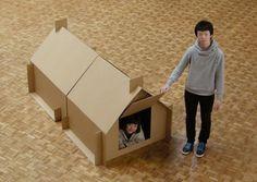 ダンボールシェルター1, Cardboard Shelter1 / Atelier Opa #gioco #cartone #design