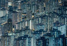 hong kong crowded cityscape