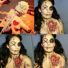 bloody heart under costume!!! Have blood dripping down and stab myself in the heart after