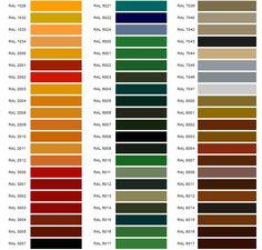 Paleta Colores Ral