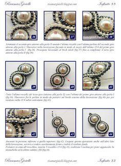 TUTORIAL Orecchini Infinito realizzati con perle 8 mm e decorati con una doppia onda in brick stitch di rocailles 15/0 a formare il simbolo dell'infinito - Ricamar Gioielli Beaded Rings, Beaded Jewelry, Handmade Jewelry, Beaded Bracelets, Jewelry Making Tutorials, Beading Tutorials, Diy Necklace Patterns, Earring Tutorial, Pendant Jewelry