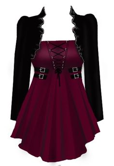 BlueBerry Hill Fashions: Gothic Corset Laced Top - Plus Size Fashions