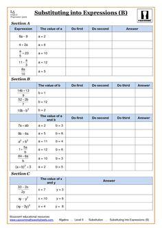 Algebra substitution worksheets at Algebra Equations, Algebra Worksheets, Maths Algebra, Algebra Activities, Multiplication Worksheets, Number Activities, Education Quotes For Teachers, Quotes For Students, Elementary Science
