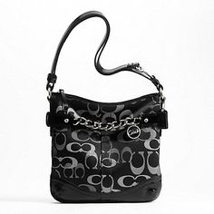 'NWT: Authentic Coach Signature Optic Met. Chain Duffle' is going up for auction at  3pm Mon, Nov 26 with a starting bid of $5.