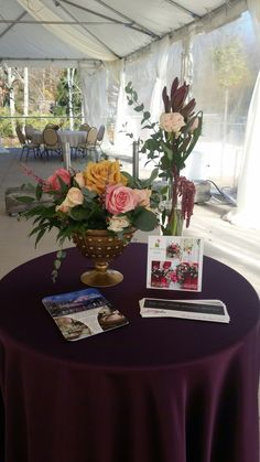 My Flower Box at the Brookside Gardens tent with Party Plus Tents & Events linens!