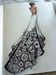 elbise tasarımları çizimleri kiraz mevsimi - Google'da Ara