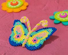 Spring Butterfly Perler Project Pattern  - Perler®